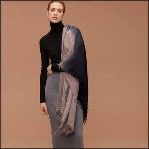 Aritzia wool large rectangle scarf